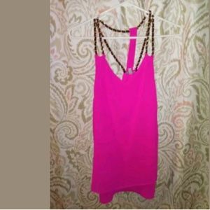 Charlotte Russe Flowing Tank Chain Straps Large